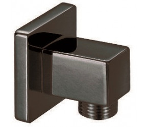 Iona Matt Black Square Outlet Elbow