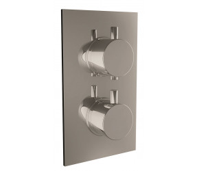 Iona Chrome Round Handle Concealed Twin Shower Valve
