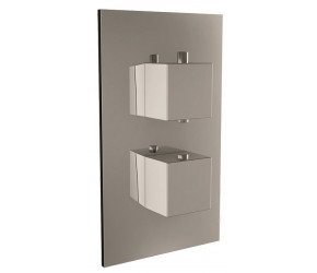 Iona Chrome Square Handle Concealed Twin Shower Valve