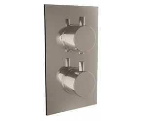 Iona Chrome Round Handle Concealed Twin Shower Valve With Diverter