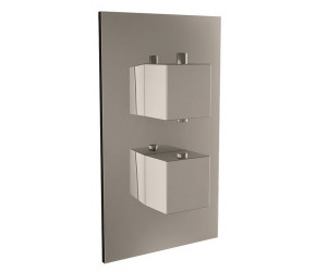 Iona Chrome Square Handle Concealed Twin Shower Valve With Diverter
