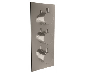 Iona Chrome Round Handle Concealed Triple Shower Valve With Diverter