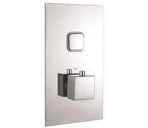 Iona Chrome Square Single Push Button Concealed Shower Valve