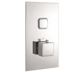 Iona Chrome Square Single Push Button Concealed Shower Valve