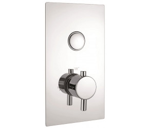 Iona Chrome Round Single Push Button Concealed Shower Valve