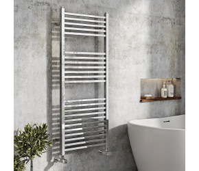 Iona Squaro Chrome Designer Heated Towel Rail 1200mm x 500mm