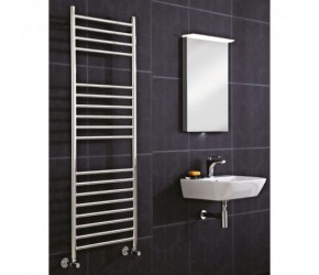 Phoenix Athena Stainless Steel Straight Towel Rail 1200mm High x 600mm Wide