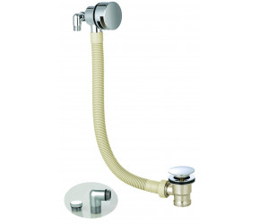Iona Chrome Round Bath Filler And Overflow With Sprung Waste