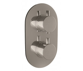 Iona Chrome Oval Concealed Twin Shower Valve With Diverter