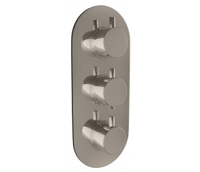 Iona Chrome Oval Concealed Triple Shower Valve