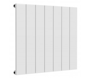 Reina Casina White Aluminium Single Panel Horizontal Radiator 600mm x 660mm