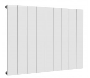 Reina Casina White Aluminium Single Panel Horizontal Radiator 600mm x 850mm