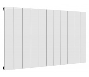 Reina Casina White Aluminium Single Panel Horizontal Radiator 600mm x 1040mm