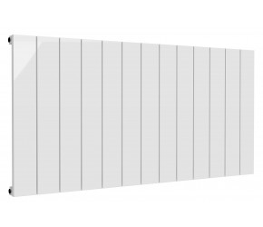 Reina Casina White Aluminium Single Panel Horizontal Radiator 600mm x 1230mm