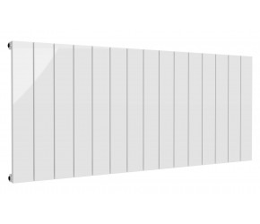 Reina Casina White Aluminium Single Panel Horizontal Radiator 600mm x 1420mm