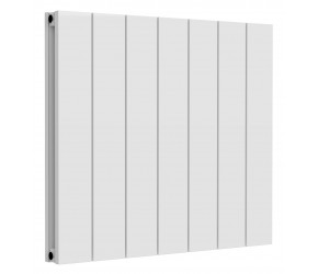Reina Casina White Aluminium Double Panel Horizontal Radiator 600mm x 660mm