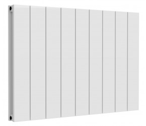 Reina Casina White Aluminium Double Panel Horizontal Radiator 600mm x 850mm