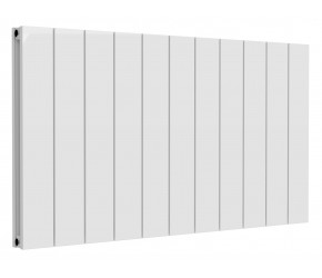 Reina Casina White Aluminium Double Panel Horizontal Radiator 600mm x 1040mm