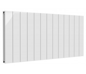 Reina Casina White Aluminium Double Panel Horizontal Radiator 600mm x 1230mm