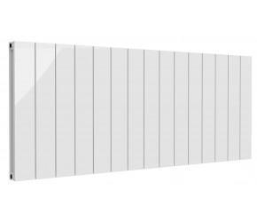 Reina Casina White Aluminium Double Panel Horizontal Radiator 600mm x 1420mm