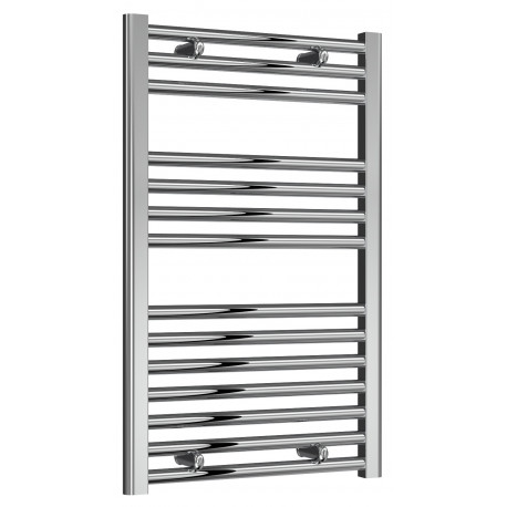 Reina Diva Steel Straight White Heated Towel Rail 800mm x 500mm Central Heating