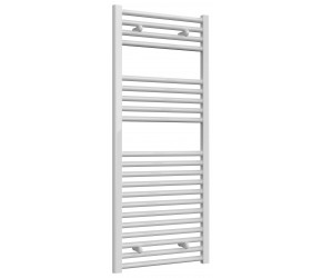 Reina Diva Straight White Heated Towel Rail 1200mm x 500mm