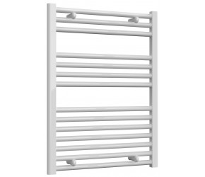 Reina Diva Straight White Heated Towel Rail 800mm x 600mm