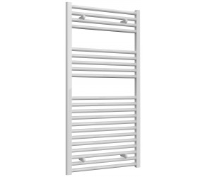 Reina Diva Straight White Heated Towel Rail 1200mm x 600mm