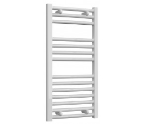 Reina Diva Curved White Heated Towel Rail 800mm x 400mm