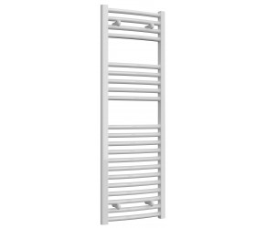 Reina Diva Curved White Heated Towel Rail 1200mm x 400mm