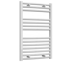 Reina Diva Curved White Heated Towel Rail 800mm x 500mm