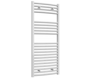 Reina Diva Curved White Heated Towel Rail 1200mm x 500mm