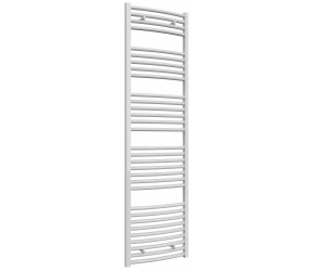 Reina Diva Curved White Heated Towel Rail 1800mm x 500mm