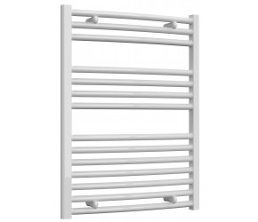Reina Diva Curved White Heated Towel Rail 800mm x 600mm