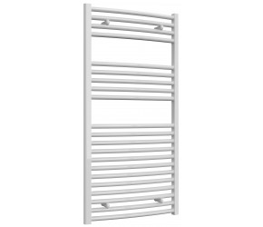 Reina Diva Curved White Heated Towel Rail 1200mm x 600mm