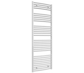 Reina Diva Curved White Heated Towel Rail 1800mm x 600mm