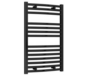 Reina Diva Black Curved Heated Towel Rail 800mm X 500mm