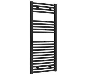 Reina Diva Black Curved Heated Towel Rail 1200mm X 500mm