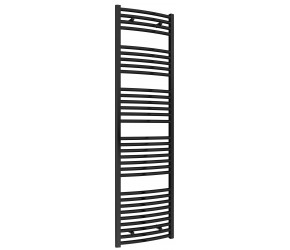 Reina Diva Black Curved Heated Towel Rail 1800mm X 500mm