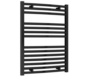 Reina Diva Black Curved Heated Towel Rail 800mm X 600mm