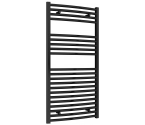Reina Diva Black Curved Heated Towel Rail 1200mm X 600mm
