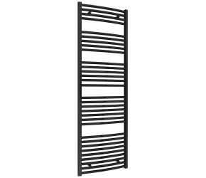 Reina Diva Black Curved Heated Towel Rail 1800mm X 600mm