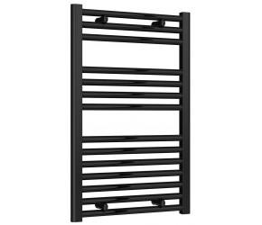 Reina Diva Black Straight Heated Towel Rail 800mm X 500mm