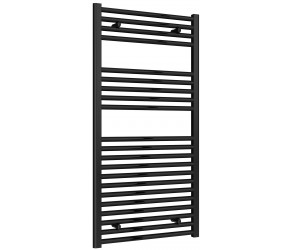 Reina Diva Black Straight Heated Towel Rail 1200mm X 600mm