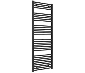 Reina Diva Black Straight Heated Towel Rail 1800mm X 600mm