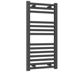 Reina Diva Anthracite Straight Heated Towel Rail 800mm x 400mm
