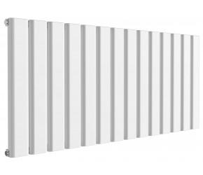 Reina Vicari White Aluminium Single Panel Horizontal Radiator 600mm x 1400mm