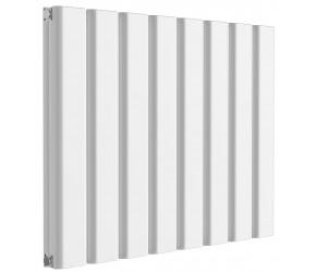 Reina Vicari White Aluminium Double Panel Horizontal Radiator 600mm x 800mm