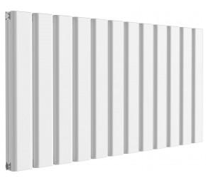 Reina Vicari White Aluminium Double Panel Horizontal Radiator 600mm x 1200mm