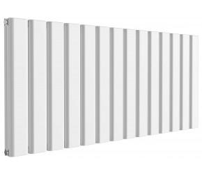 Reina Vicari White Aluminium Double Panel Horizontal Radiator 600mm x 1400mm